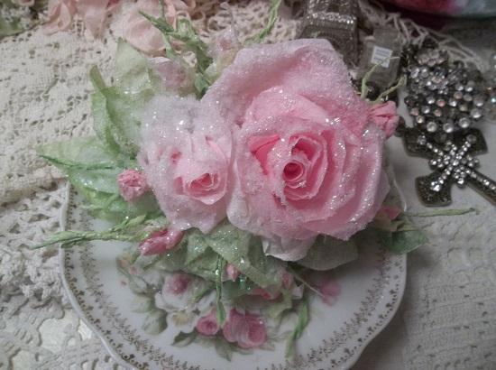 (Erica) Handmade Paper Rose Clip