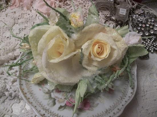 (Sunny) Handmade Paper Rose Clip