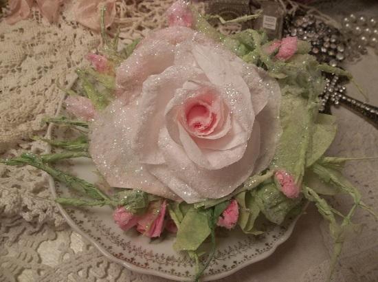 (Frozen) Handmade Paper Rose Clip