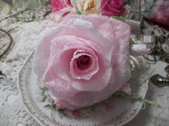 (Sheri Frost) Handmade Paper Rose Clip