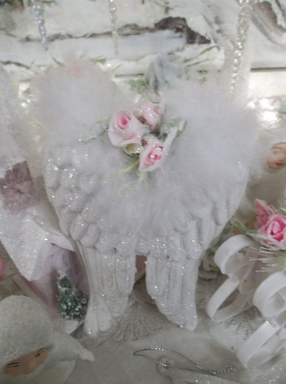 (Mistie) Angel Wings Valentines Day, Christmas Ornament