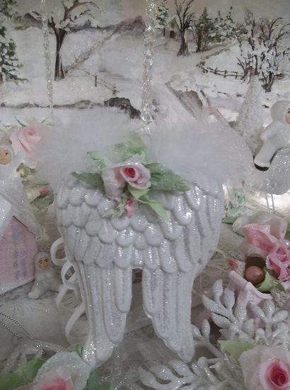 (Miss Valentino) Angel Wings Valentines Day, Christmas Ornament