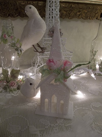 (Church In The Wild Wood) Glittered Easter, Christmas Church Ornament