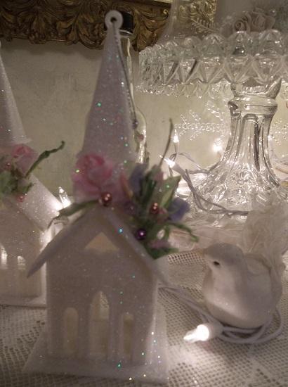 (Shine Church) Glittered Easter, Christmas Church Ornament