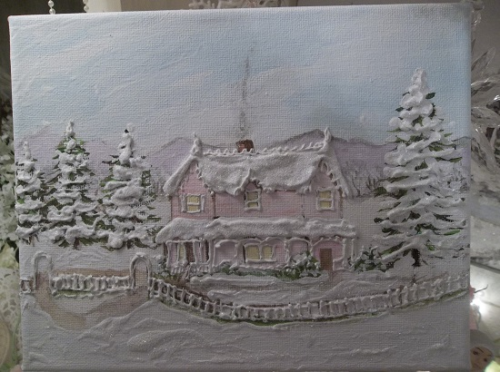 (One Winter's Morn) Original Acrylic Painting By Rhonda Motteberg On Stretched Canvas