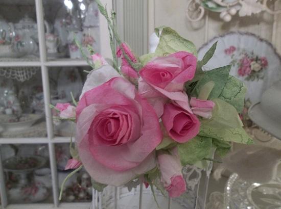 (Be Mine) Handmade Paper Rose Clip