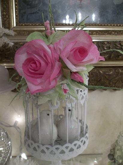(Valentine) Handmade Paper Rose Clip