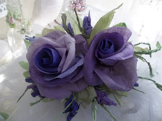 (Garden Joy) Handmade Paper Rose Clip