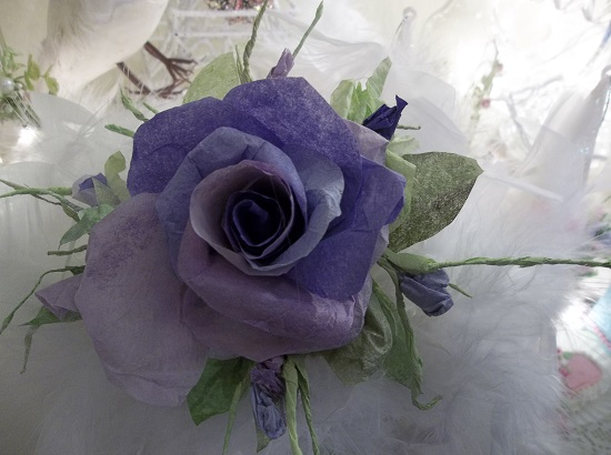 (Night Song) Handmade Paper Rose Clip