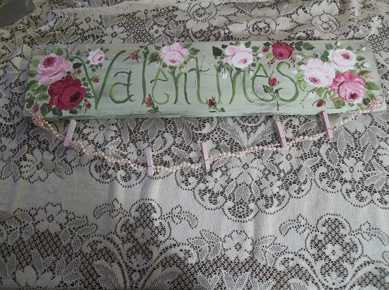 (Valentines) Handpainted Sign