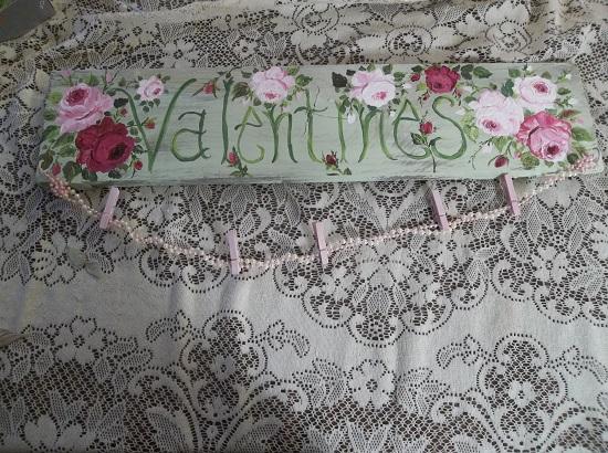 (Valentines) Handpainted Sign