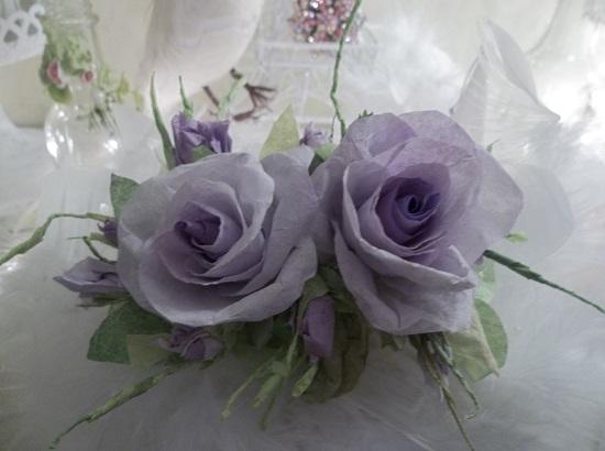 (Linda) Handmade Paper Rose Clip
