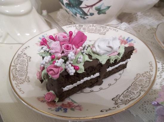 (Serving Up A Slice Of The Good Life) Vintage Fork, Bite Of Fake Cake