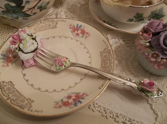 (Sheila Rose) Vintage Fork, Bite Of Fake Cake