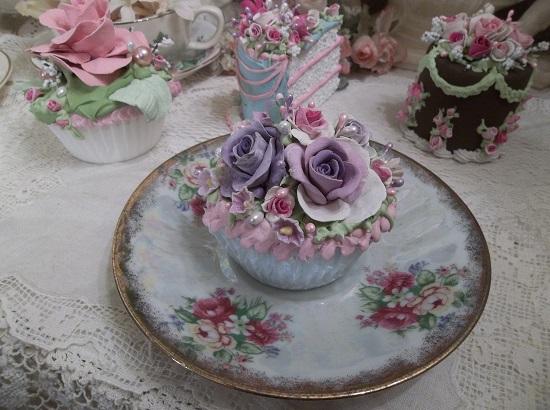 (Blue Violet) Fake Cupcake