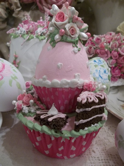 (Treats Of Easter) Egg On A Fake Cupcake