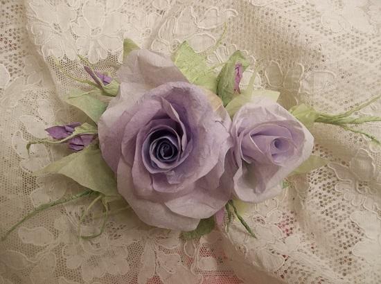 (Tamara) Handmade Paper Rose Clip