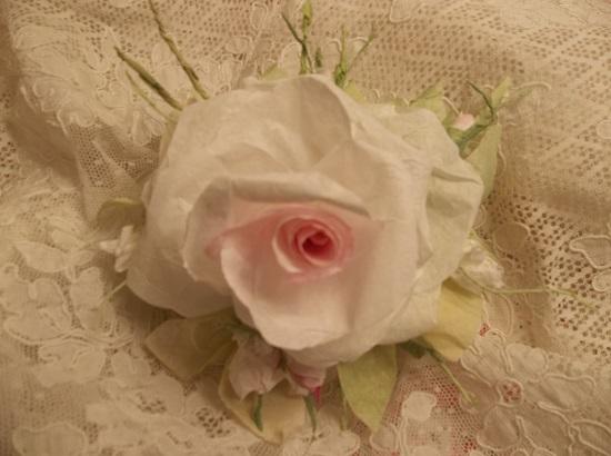 (Evanah) Handmade Paper Rose Clip
