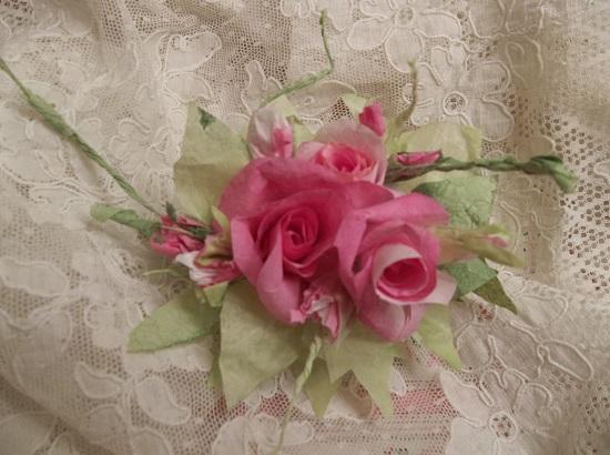 (Melanna) Handmade Paper Rose Clip