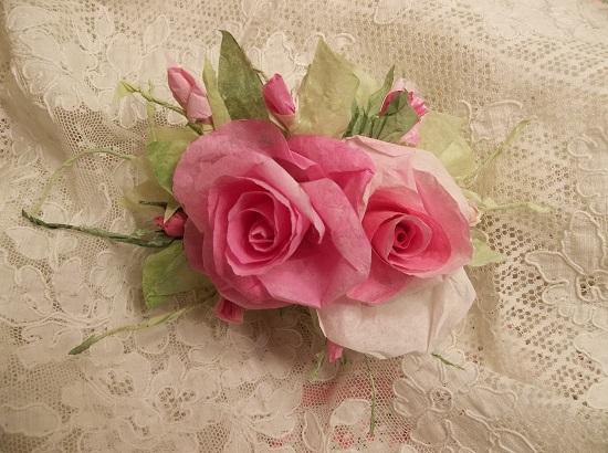 (Rosa Rita) Handmade Paper Rose Clip