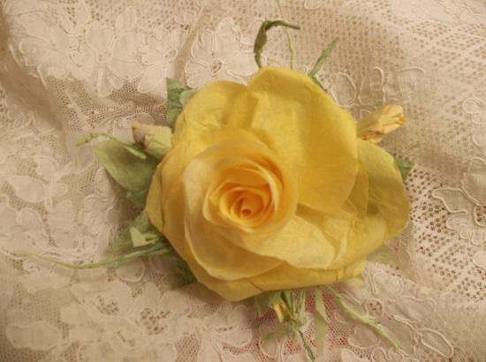 (Lolauna) Handmade Paper Rose Clip