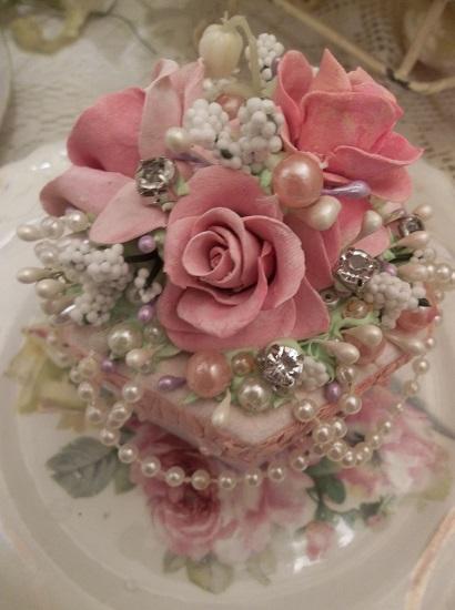 (Rosa Pearl) Paper Trinket Box