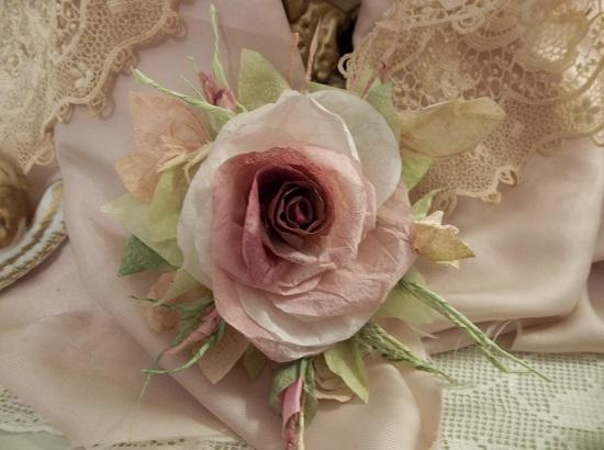 (Maulva) Handmade Paper Rose Clip