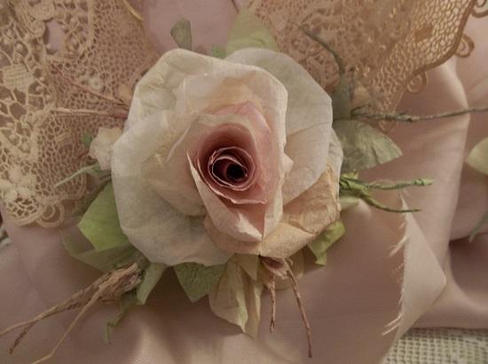 (Mirilla) Handmade Paper Rose Clip