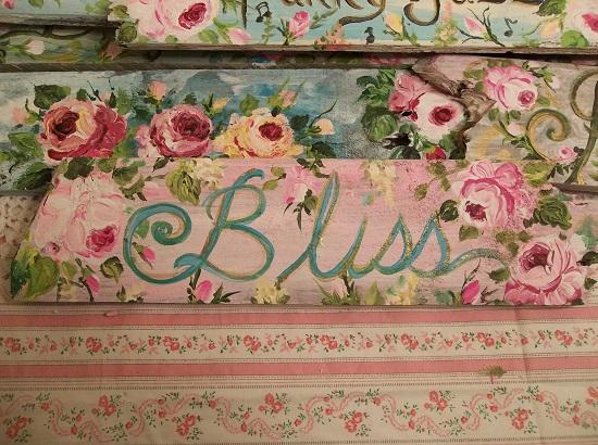 (Bliss Rose) Handpainted Sign