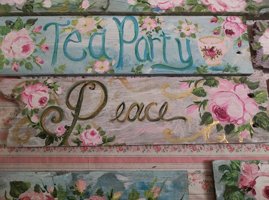 (Rose Peace) Handpainted Sign