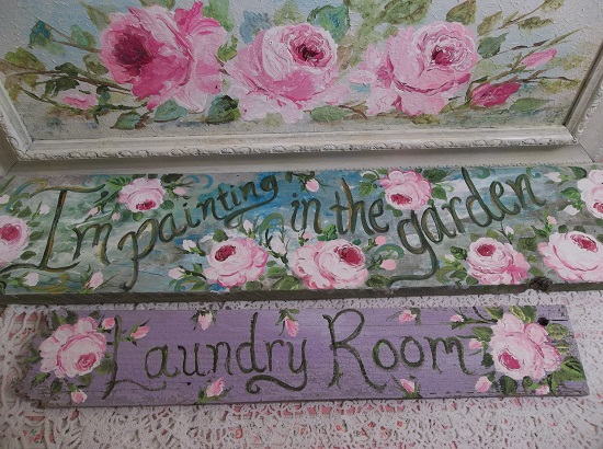 (Lavender Laundry) Handpainted Sign