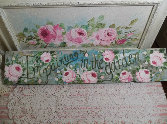 (Painting In The Garden) Handpainted Sign