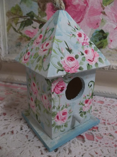 (Birds Of A Feather) Handpainted Bird House
