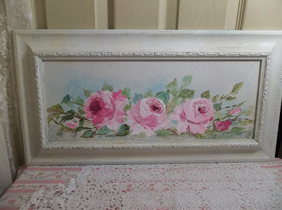 (Framed Rose Art) Framed Painting In Acrylics By Rhonda Motteberg