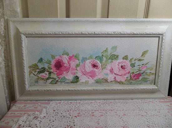 (Framed Rose Art) Framed Painting In Acrylics By Rhonda Motteberg