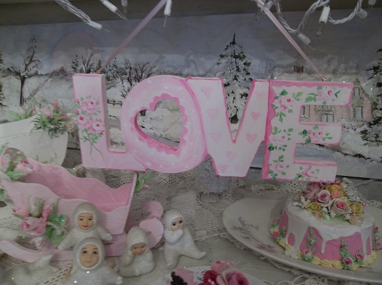 (Sweet Sue) Handpainted And Decorated Love Sign