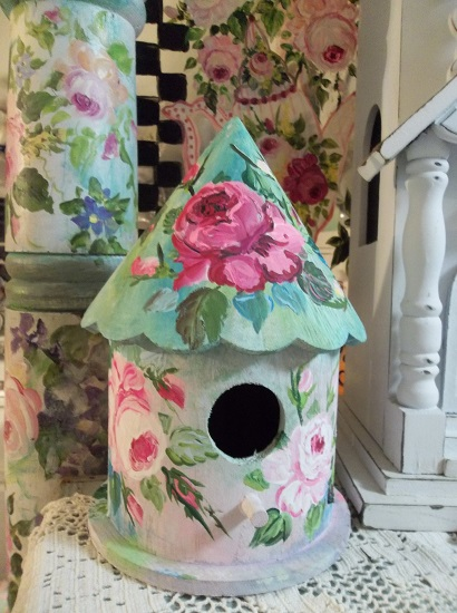 (If I Were A Feathered Friend) Handpainted Bird House