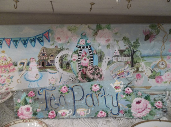 (TeaParty) Handpainted Sign