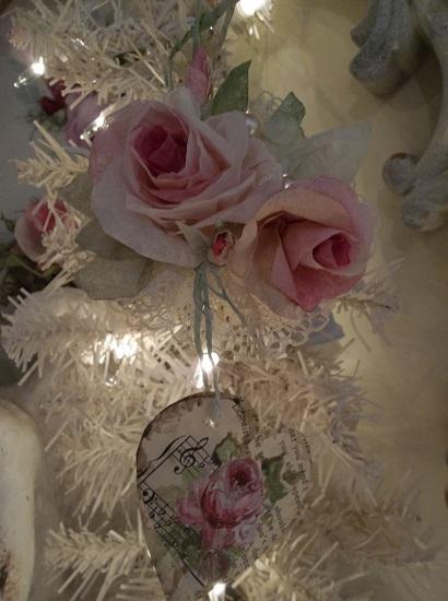 (Love's Bliss) Handmade Paper Rose Clip