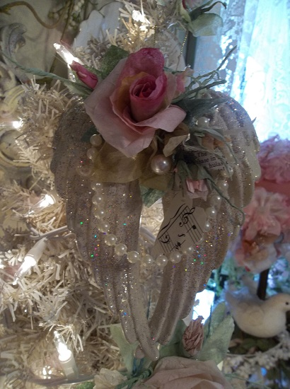 (Flight Of Fancy) Decorated Angel Wings Ornament