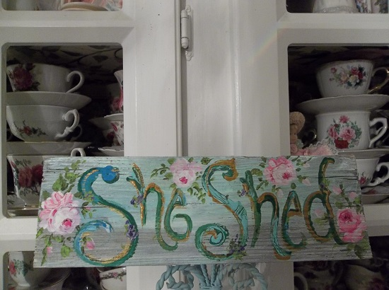 (Cheryl's Hot Shed) Handpainted Sign