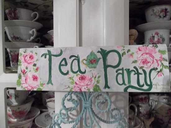 (Garden Tea) Handpainted Sign