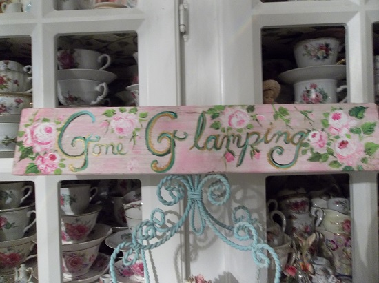(Gone Glamping) Handpainted Sign