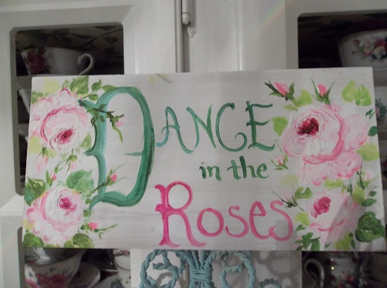(Dance In The Roses) Handpainted Sign