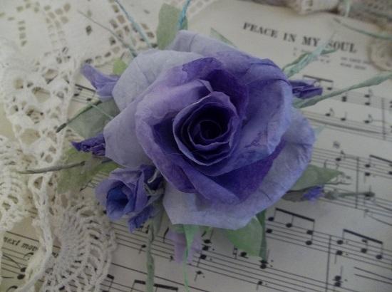 (Guinevere) Handmade Paper Rose Clip