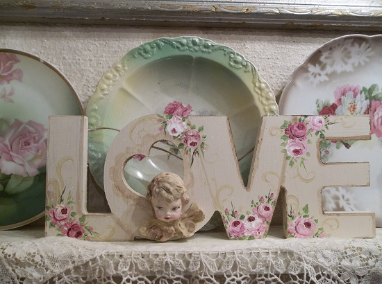 (Deedra) Handpainted And Decorated Love Sign