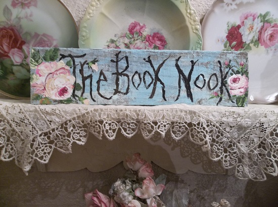 (Book Nook) Handpainted Sign