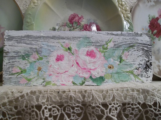 (Old Rugged Roses) Handpainted Sign