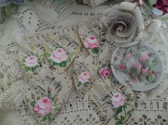 (Melody Of Love) DIY Sheet Music Scrap For Your Craft Projects