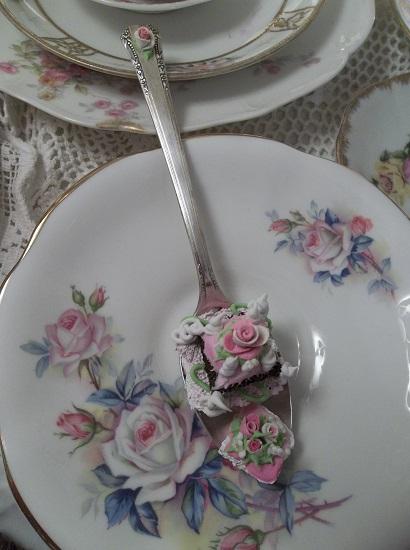 (Double Delight) Vintage Teaspoon Decoration